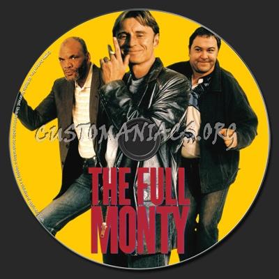 The Full Monty dvd label