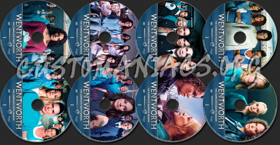 Wentworth Seasons 1-8 dvd label