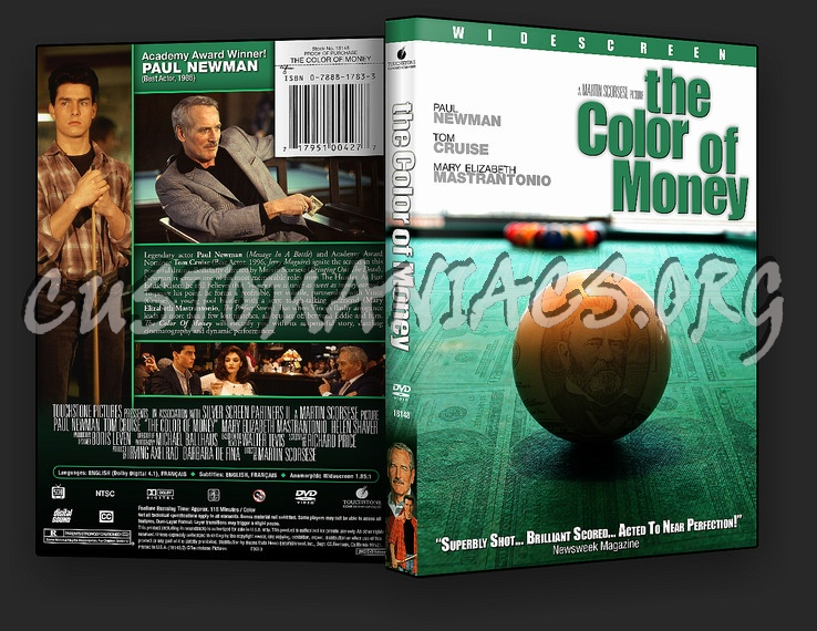 The Color of Money dvd cover