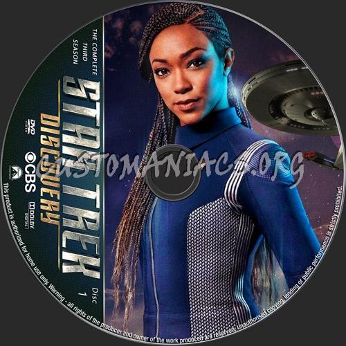 Star Trek Discovery Season 3 dvd label