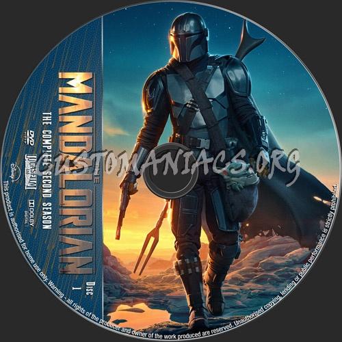 The Mandalorian Season 2 dvd label