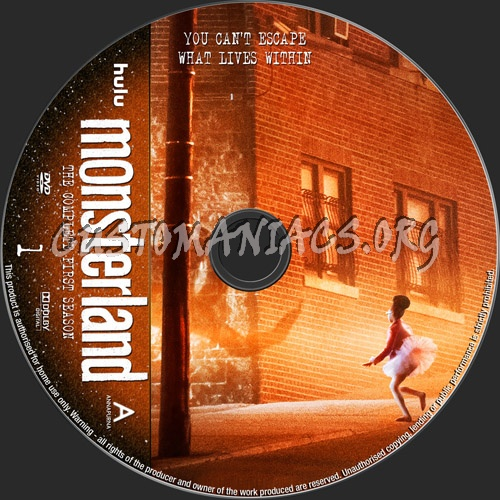 Monsterland Season 1 dvd label