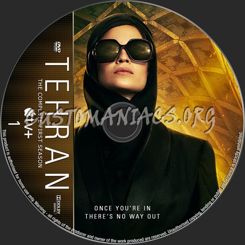 Tehran Season 1 dvd label