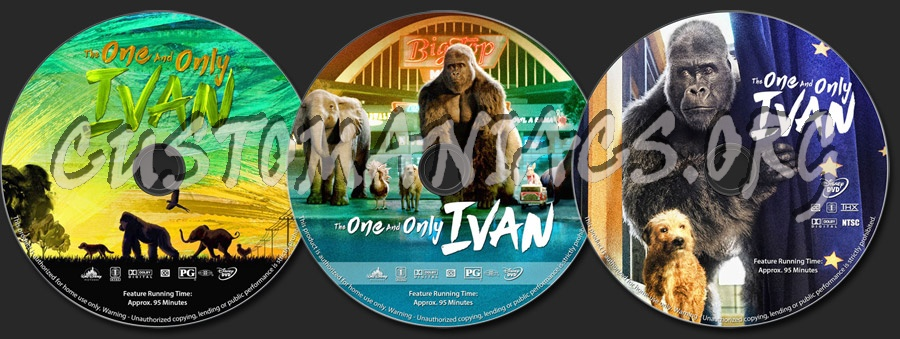 The One and Only Ivan dvd label