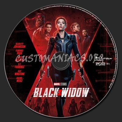 Black Widow (2021) 2D & 3D blu-ray label