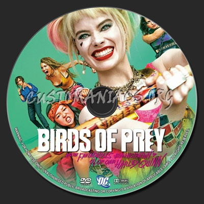 Birds of Prey (and the Fantabulous Emancipation of One Harley Quinn) (2020) dvd label