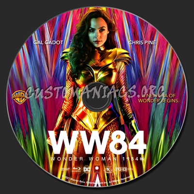 Wonder Woman 1984 blu-ray label