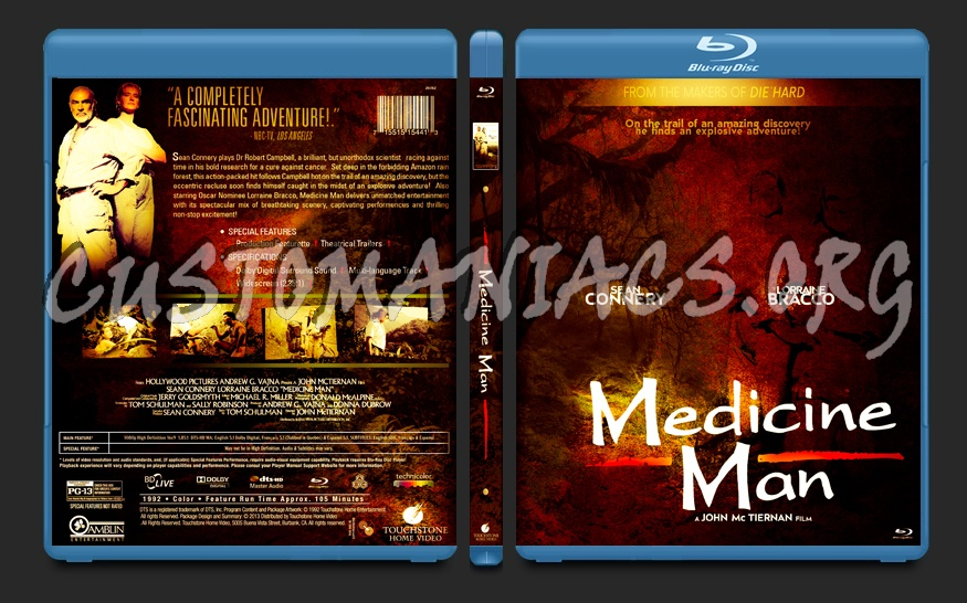 Medicine Man (1992) blu-ray cover