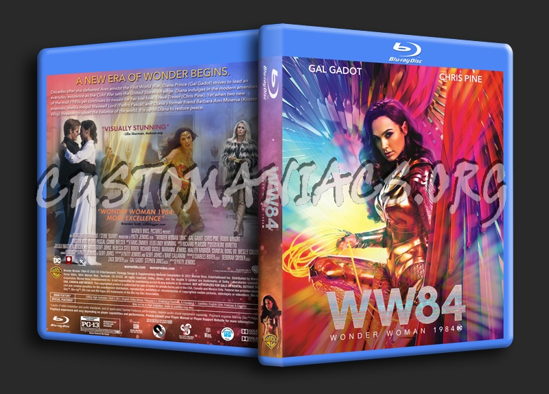 Wonder Woman 1984 blu-ray cover