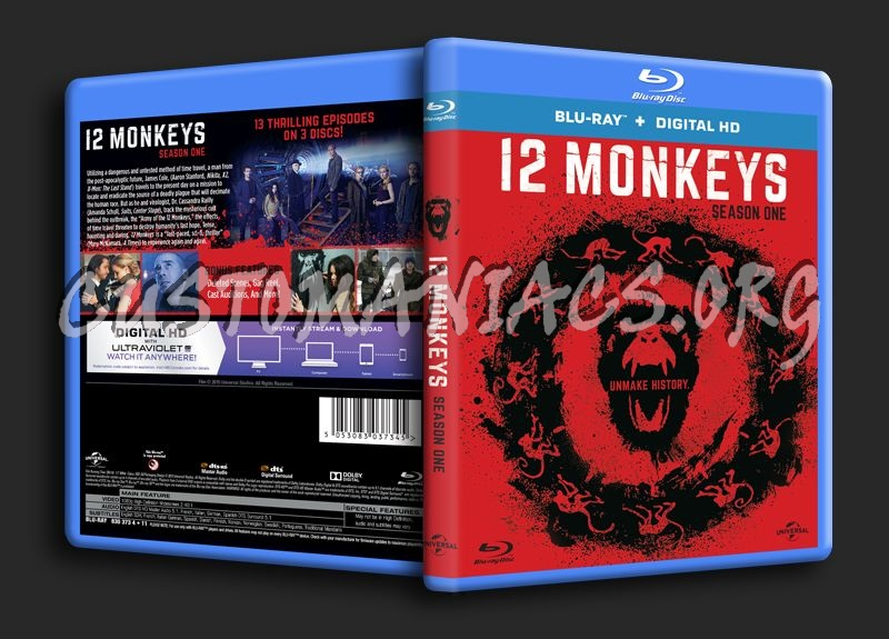 12 Monkeys Season 1 blu-ray cover