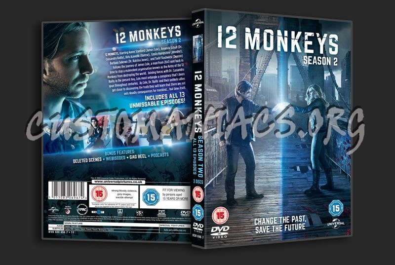 12 Monkeys Season 2 dvd cover