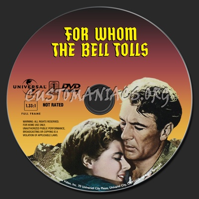 For Whom the Bell Tolls dvd label