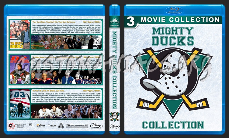 The Mighty Ducks Collection blu-ray cover