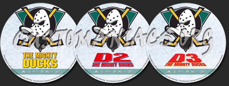 The Mighty Ducks Collection dvd label