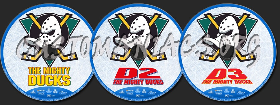 The Mighty Ducks Collection blu-ray label