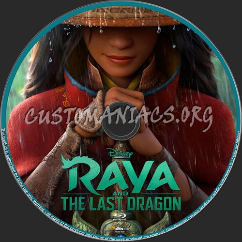 Raya And The Last Dragon blu-ray label