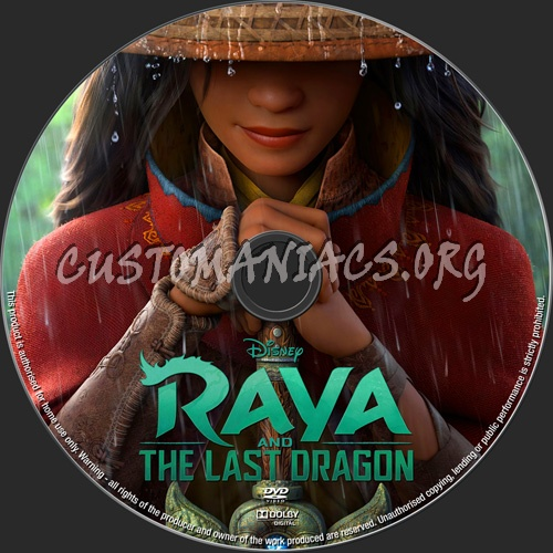 Raya And The Last Dragon dvd label