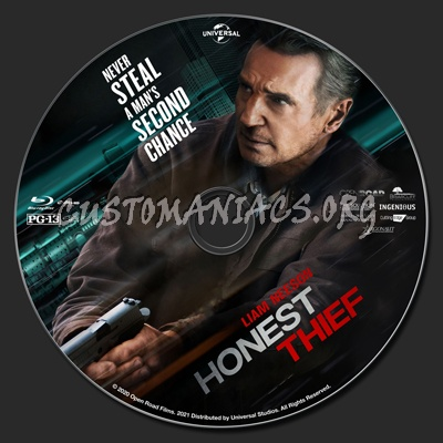 Honest Thief blu-ray label