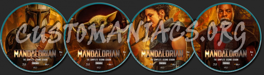 The Mandalorian Season 2 blu-ray label