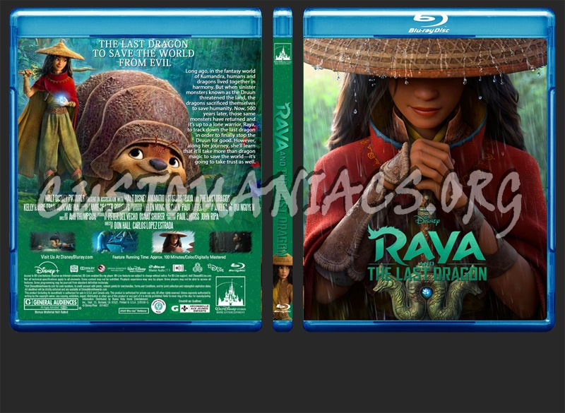 Raya And The Last Dragon blu-ray cover