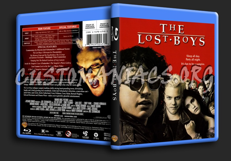 The Lost Boys blu-ray cover