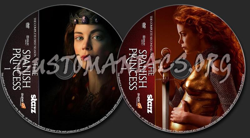 The Spanish Princess Seasons 1-2 dvd label