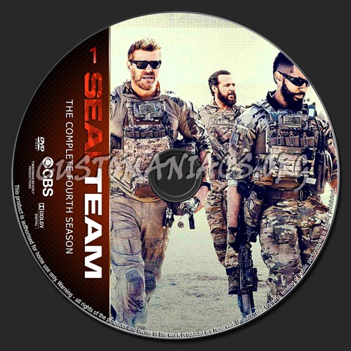 Seal Team Season 4 dvd label