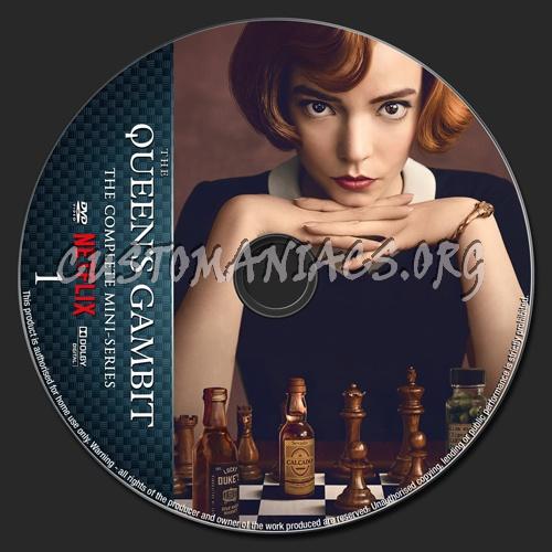 The Queen's Gambit Mini-Series dvd label