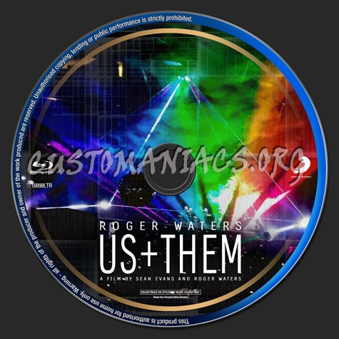 Roger Waters Us + Them (2020) blu-ray label