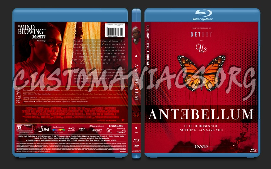 Antebellum (2020) blu-ray cover