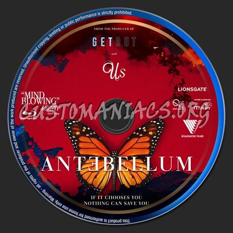 Antebellum (2020) blu-ray label
