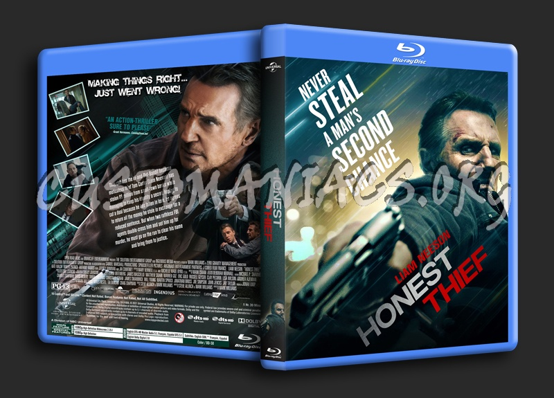 Honest Thief blu-ray cover
