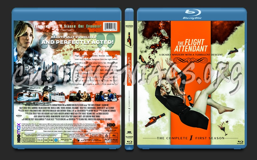 The Flight Attendant (2020) Season 01 blu-ray cover
