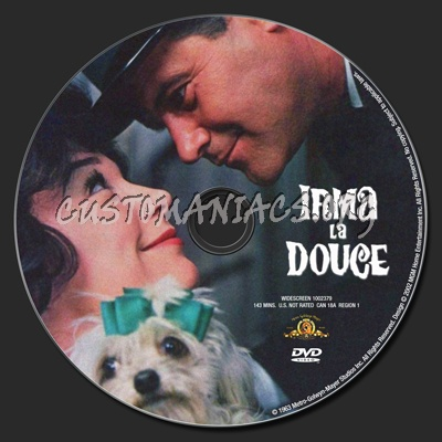 Irma la Douce dvd label