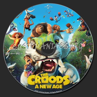 The Croods: A New Age dvd label