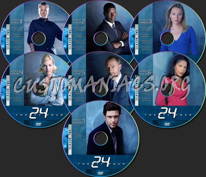 24 Season Two dvd label