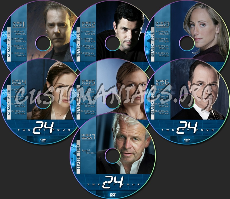 24 Season Four dvd label