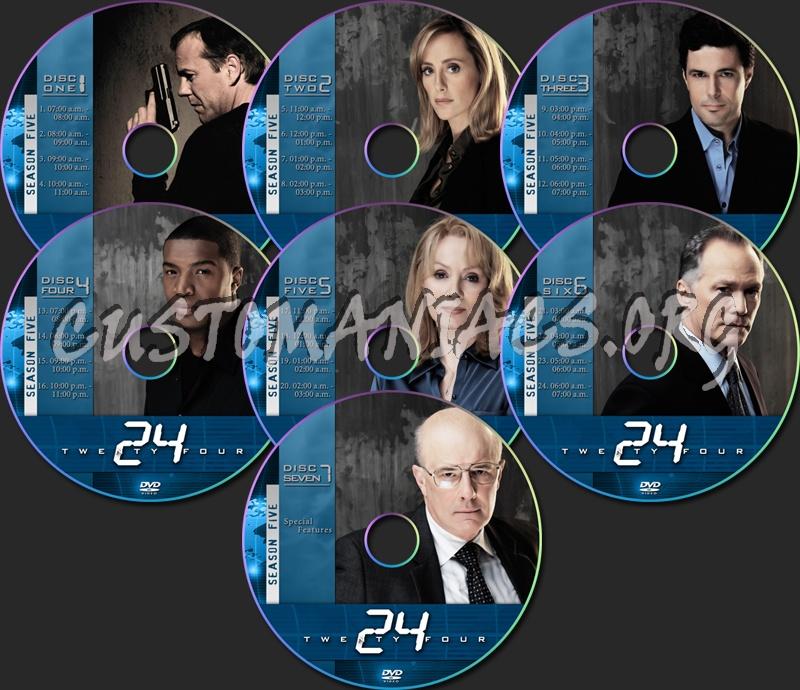 24 Season Five dvd label