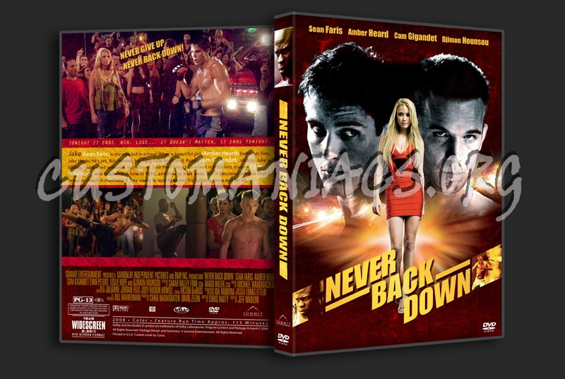 Never Back Down dvd co...