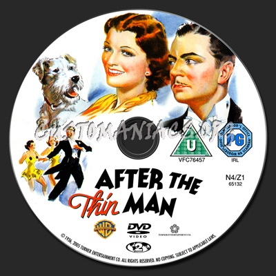 After The Thin Man dvd label