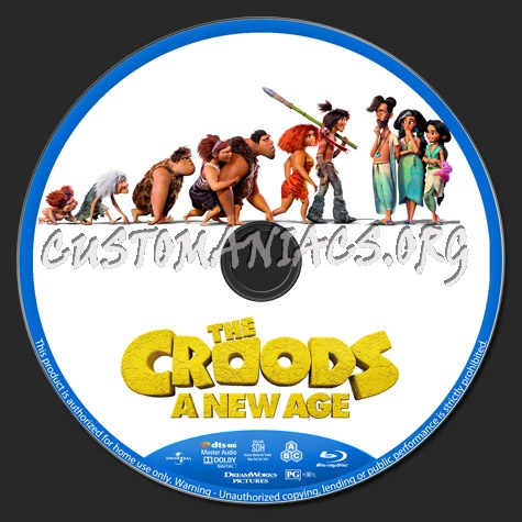 The Croods: A New Age blu-ray label