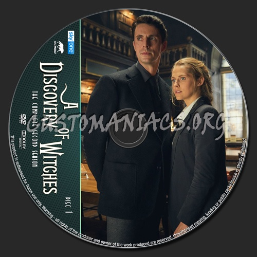 A Discovery Of Witches Season 2 dvd label