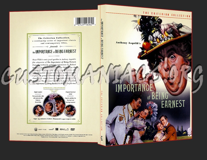 158 - The Importance of Being Earnest dvd cover
