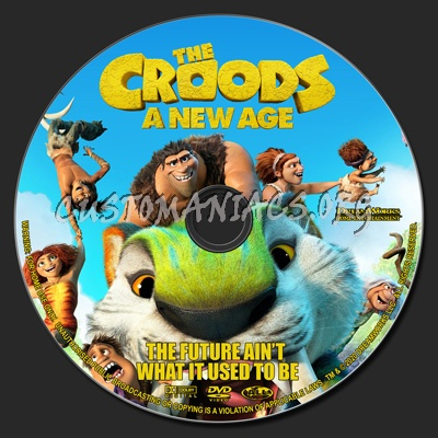 The Croods A New Age dvd label
