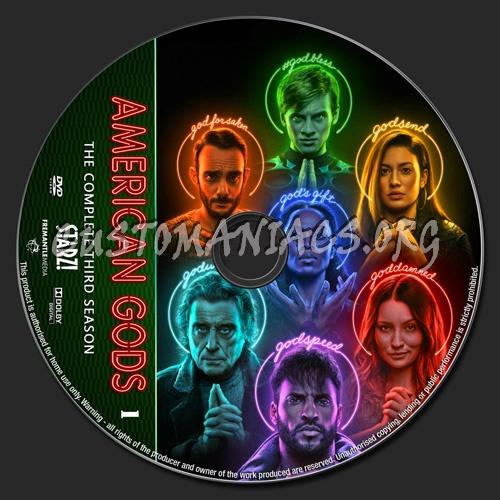 American Gods Season 3 dvd label
