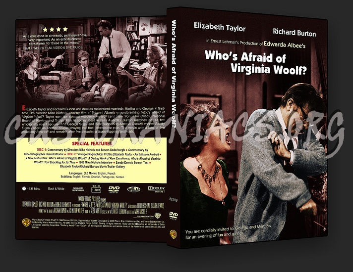 Who's Afraid of Virginia Woolf? dvd cover