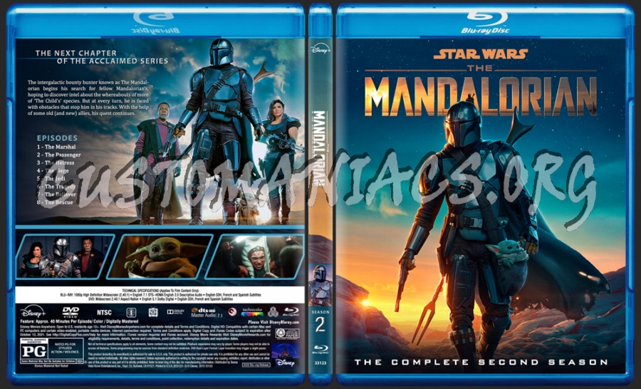 The Mandalorian - Season 2 blu-ray cover