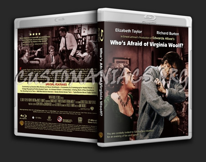 Who's Afraid of Virginia Woolf? blu-ray cover