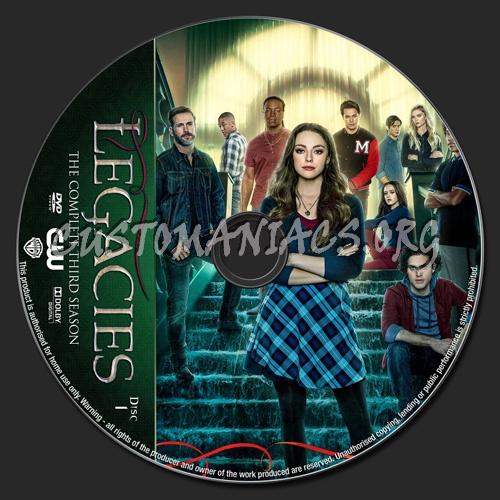 Legacies Season 3 dvd label
