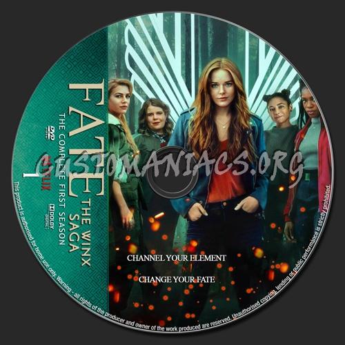 Fate:The Winx Saga Season 1 dvd label